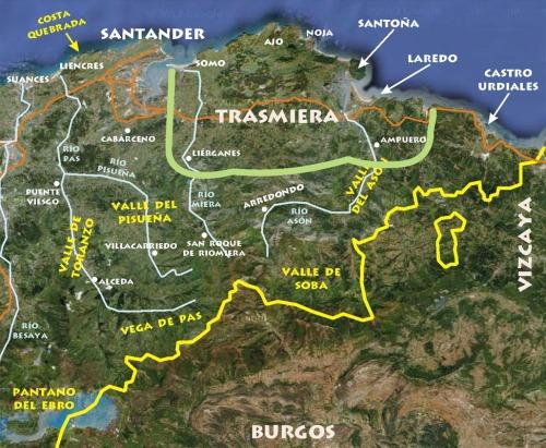 mapa provincia sant con trasmiera